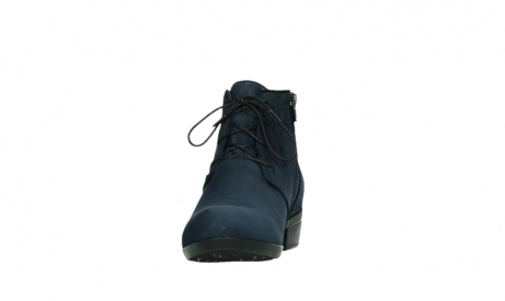 wolky lace up boots 00955 delano 13800 blue nubuckleather_8