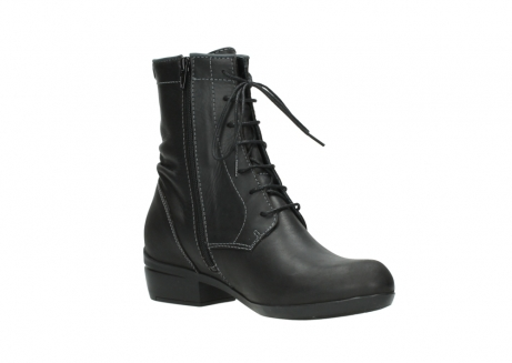 wolky lace up boots 00956 fortuna 50002 black leather_16