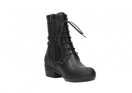 wolky lace up boots 00956 fortuna 50002 black leather_17