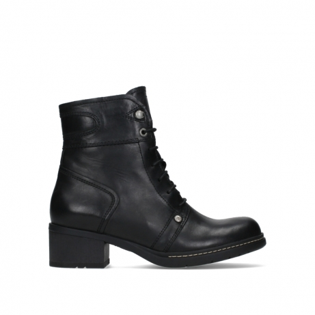 wolky lace up boots 01260 red deer 30000 black leather