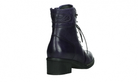 wolky lace up boots 01260 red deer 30600 purple leather_21