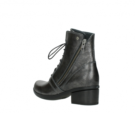 wolky lace up boots 01377 forth 81280 metal grey leather_4