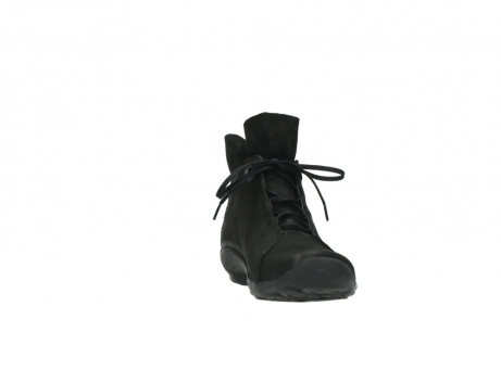 wolky lace up boots 01657 diana 50000 black oiled leather_18