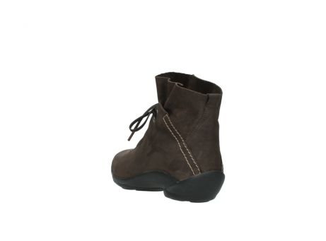 wolky bottines a lacets 01657 diana 50300 cuir marron_5