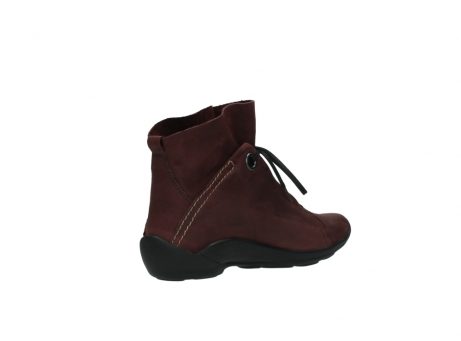 wolky lace up boots 01657 diana 50510 burgundy oiled leather_10