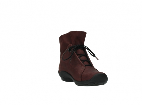 wolky lace up boots 01657 diana 50510 burgundy oiled leather_17