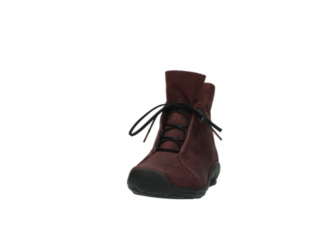 wolky lace up boots 01657 diana 50510 burgundy oiled leather_20