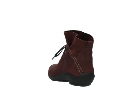 wolky lace up boots 01657 diana 50510 burgundy oiled leather_5