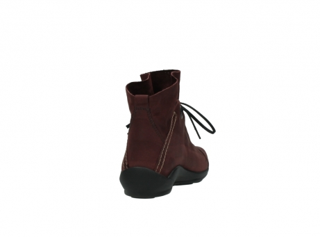 wolky lace up boots 01657 diana 50510 burgundy oiled leather_8