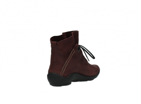 wolky lace up boots 01657 diana 50510 burgundy oiled leather_9
