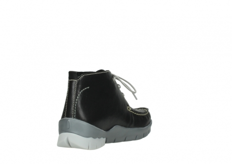 wolky lace up boots 01751 misty 70070 black leather_9