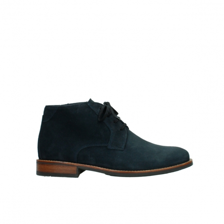 wolky veterboots 02181 montevideo 40800 donkerblauw geolied suede