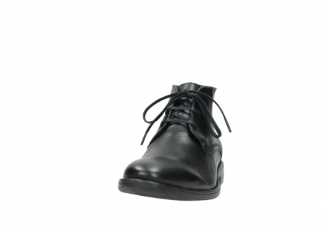 wolky lace up boots 02181 montevideo 31000 black leather_20