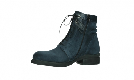 wolky lace up boots 02625 center 45800 blue suede_11