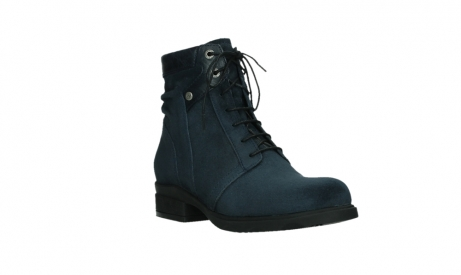 wolky lace up boots 02625 center 45800 blue suede_4