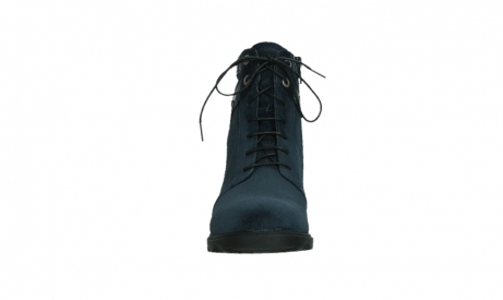wolky lace up boots 02625 center 45800 blue suede_7