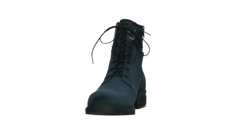 wolky lace up boots 02625 center 45800 blue suede_8