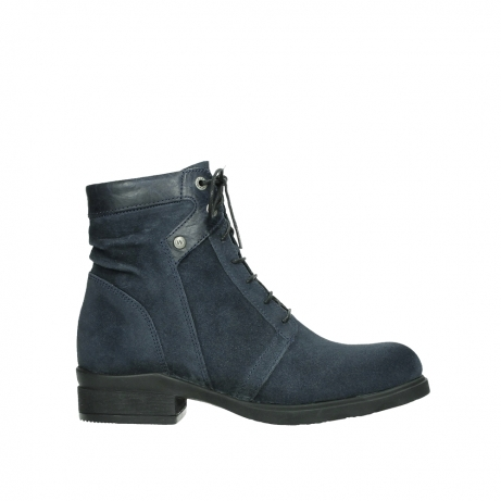 wolky lace up boots 02625 center 45800 blue suede