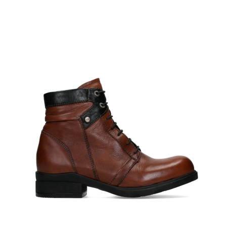 wolky lace up boots 02628 center wp 20430 cognac leather