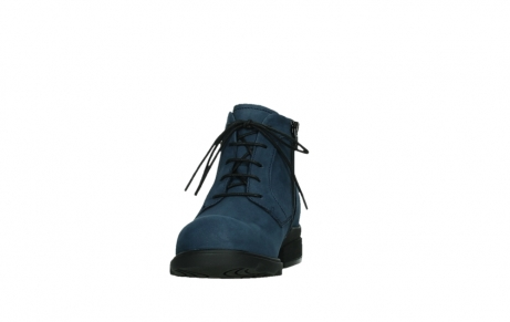 wolky lace up boots 02630 seagram xw 13800 blue nubuckleather_8