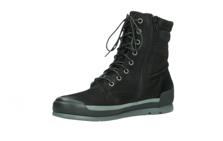 wolky lace up boots 02775 adams 13000 black nubuckleather_11