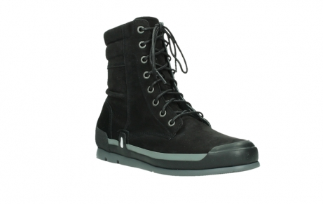 wolky lace up boots 02775 adams 13000 black nubuckleather_4