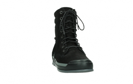 wolky lace up boots 02775 adams 13000 black nubuckleather_6