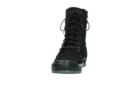 wolky lace up boots 02775 adams 13000 black nubuckleather_8
