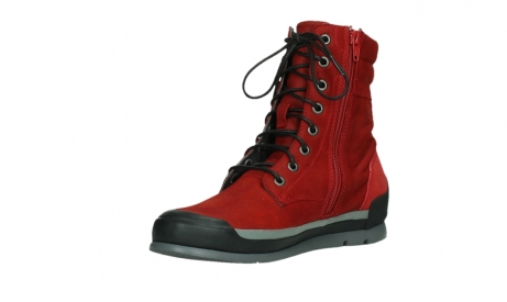 wolky lace up boots 02775 adams 13505 red nubuckleather_10