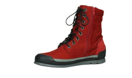 wolky lace up boots 02775 adams 13505 red nubuckleather_11