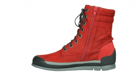 wolky lace up boots 02775 adams 13505 red nubuckleather_13