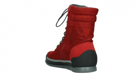wolky lace up boots 02775 adams 13505 red nubuckleather_17