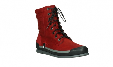 wolky lace up boots 02775 adams 13505 red nubuckleather_4