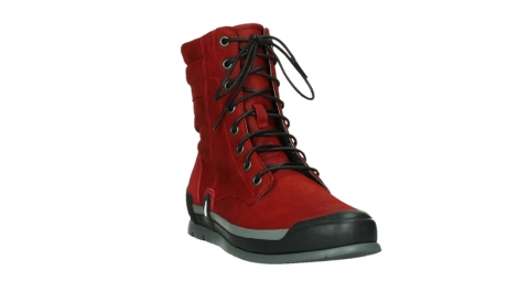wolky lace up boots 02775 adams 13505 red nubuckleather_5