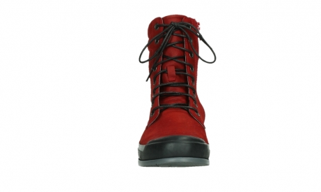 wolky lace up boots 02775 adams 13505 red nubuckleather_7