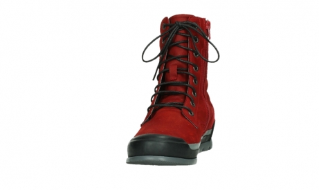 wolky lace up boots 02775 adams 13505 red nubuckleather_8