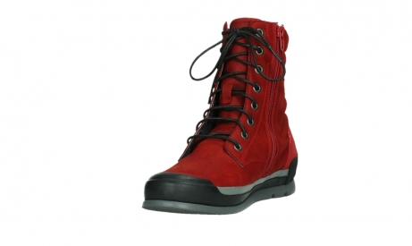 wolky lace up boots 02775 adams 13505 red nubuckleather_9