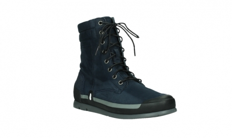 wolky lace up boots 02775 adams 13800 blue nubuckleather_4