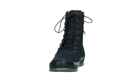 wolky lace up boots 02775 adams 13800 blue nubuckleather_8
