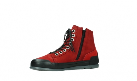 wolky bottines a lacets 02777 watson 13505 cuir nubuck rouge_11