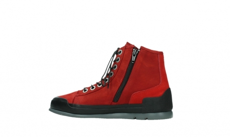 wolky bottines a lacets 02777 watson 13505 cuir nubuck rouge_14
