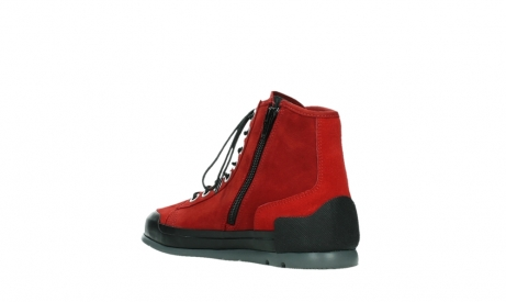 wolky bottines a lacets 02777 watson 13505 cuir nubuck rouge_16
