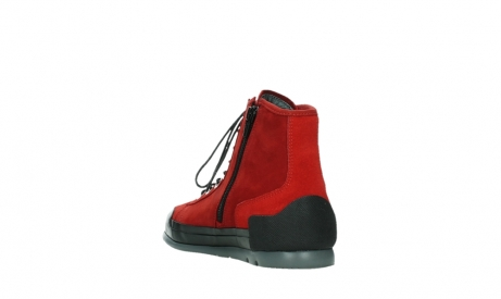 wolky bottines a lacets 02777 watson 13505 cuir nubuck rouge_17