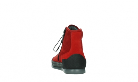 wolky bottines a lacets 02777 watson 13505 cuir nubuck rouge_18