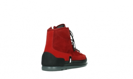 wolky bottines a lacets 02777 watson 13505 cuir nubuck rouge_21