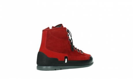 wolky bottines a lacets 02777 watson 13505 cuir nubuck rouge_22