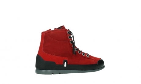 wolky bottines a lacets 02777 watson 13505 cuir nubuck rouge_23