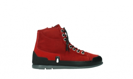 wolky bottines a lacets 02777 watson 13505 cuir nubuck rouge_24