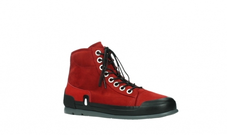 wolky bottines a lacets 02777 watson 13505 cuir nubuck rouge_3