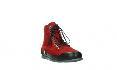 wolky bottines a lacets 02777 watson 13505 cuir nubuck rouge_5